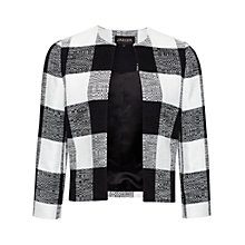 Buy Jaeger Blanket Check Jacket, Black / White Online at johnlewis.com