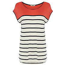 Buy Oasis Breton Stripe T-Shirt Online at johnlewis.com