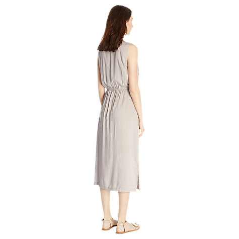 Buy Warehouse Botanic Cutwork Dress, Light Grey Online at johnlewis.com