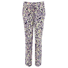 Buy Warehouse Fluro Pansy Print Trousers, Multi Online at johnlewis.com