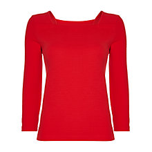 Buy Jaeger Square Neck Ottoman Jersey Top Online at johnlewis.com