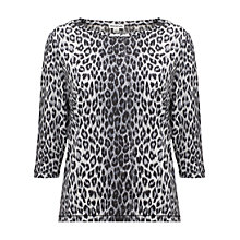 Buy Whistles Paloma Cheetah Print Top, Grey Online at johnlewis.com