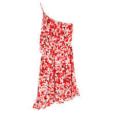Buy Mango Asymmetric Floral Print Dress, Red Online at johnlewis.com