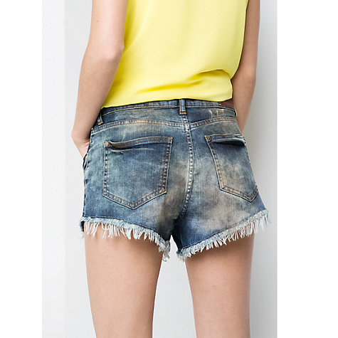 Buy Mango Vintage Denim Shorts, Dark Blue Online at johnlewis.com