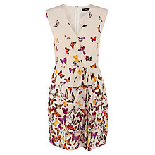 Buy Oasis Border Butterfly Dress, Multi White Online at johnlewis.com