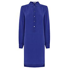 Buy Wishbone Bridget Silk Shirt Dress, Mid Blue Online at johnlewis.com