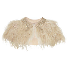 Buy Phase Eight Feathered Cape, Champagne Online at johnlewis.com