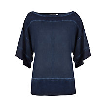Buy Mint Velvet Ink Overdye Kimono, Blue Marble Online at johnlewis.com