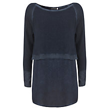 Buy Mint Velvet Overdyed Crop Knit Online at johnlewis.com