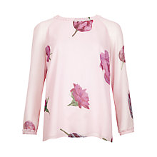 Buy Ted Baker Malila Tulip Print Top, Pale Pink Online at johnlewis.com