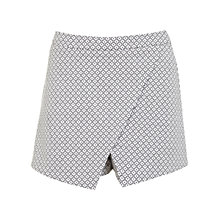 Buy Miss Selfridge Mono Jaquard Skort, Assorted Online at johnlewis.com