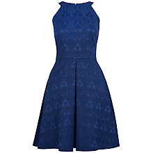 Buy Closet Jacquard Dress, Navy Online at johnlewis.com