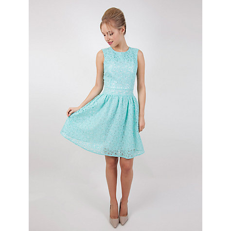 Buy Whistle & Wolf Lace Prom Dress, Blue Online at johnlewis.com