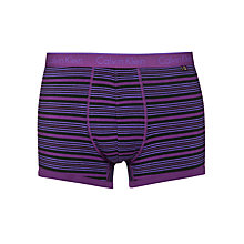 Buy Calvin Klein CK One Marine Stripe Cotton Trunks, Plum Purple Online at johnlewis.com