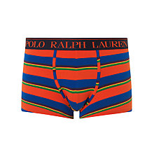 Buy Polo Ralph Lauren Classic Striped Trunks, Orange / Multi Online at johnlewis.com