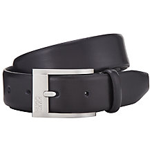 Buy HUGO by Hugo Boss C-Brandon Smooth Leather Belt, Black Online at johnlewis.com