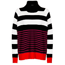 Buy Marimekko Sansti Stripe Polo Neck Jumper, Multi Online at johnlewis.com