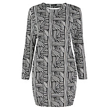 Buy Marimekko Mur Hatch Print Dress, Black/White Online at johnlewis.com