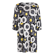 Buy Marimekko Hatara Swirl Flower Dress, Black/White Online at johnlewis.com