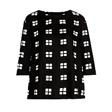 Buy Marimekko Fonari Window Pane Top, Black/White Online at johnlewis.com