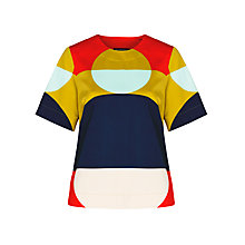 Buy Marimekko Kortti Circle Top, Red Online at johnlewis.com