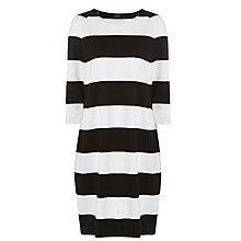 Buy Marimekko Rosal Stripe Dress, Black/White Online at johnlewis.com