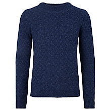 Buy JOHN LEWIS & Co. Made In Italy Basket Weave Wool Jumper, Blue Online at johnlewis.com
