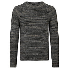 Buy John Lewis Oversize Space Dye Crew Jumper, Grey Online at johnlewis.com
