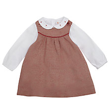Buy John Lewis Tweedy Dress & Blouse, Red/White Online at johnlewis.com