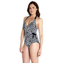 Buy Speedo Scultpure Simplyglow Swimsuit, Navy Online at johnlewis.com