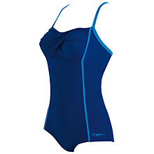 Buy Zoggs Bazaar Twist Booty Swimsuit, Blue Online at johnlewis.com