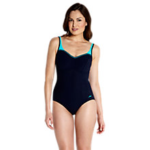 Buy Speedo Sculpture Crystalshine Swimsuit, Navy/Turquoise Online at johnlewis.com