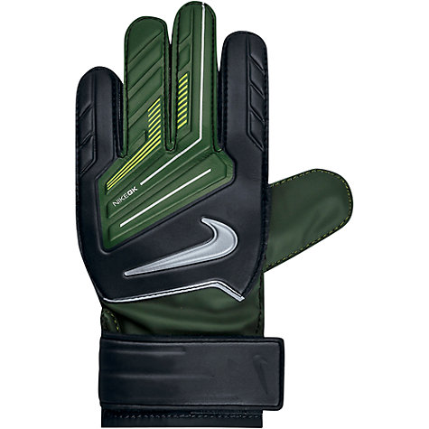 Buy Nike Junior Grip Goalkeeper Gloves, Black/Dark Army Online at johnlewis.com
