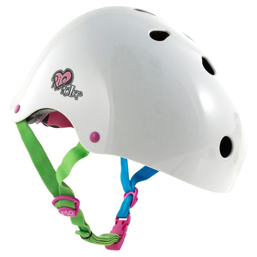 Rio Roller Rio Roller Candi Sticker Helmet, White/Multi