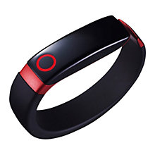 Buy LG Lifeband Touch, Wireless Activity Tracking Wristband, Black & Red, Medium + LG Heart Rate Monitor Bluetooth Earphones with Mic/Remote, Black Online at johnlewis.com