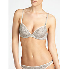 Buy Calvin Klein Seductive Comfort Smooth Lift T-Shirt Bra, Pebble Online at johnlewis.com