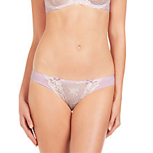 Buy Elle Macpherson Intimates Artistry Thong, Orchid Bloom / Retro Cream Online at johnlewis.com