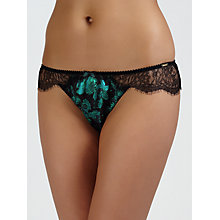 Buy Somerset by Alice Temperley Winter Floral Briefs, Emerald Online at johnlewis.com