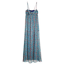 Buy Mango Chiffon Long Dress, Medium Blue Online at johnlewis.com