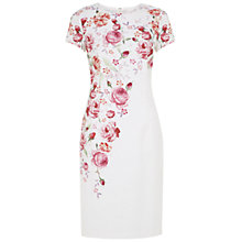 Buy Hobbs Invitation Rose Garden Dress, White/Multi Online at johnlewis.com