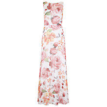 Buy Hobbs Invitation Myriam Maxi Dress, White/Multi Online at johnlewis.com
