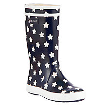 Buy Aigle Childrens' Lollypop Wellington Boots, Navy Online at johnlewis.com
