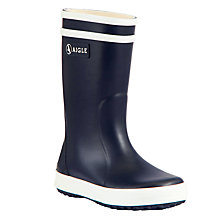 Buy Aigle Children's Lollypop Wellington Boots, Navy Online at johnlewis.com