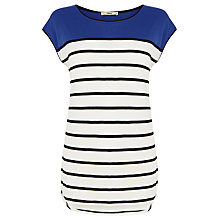 Buy Oasis Breton Stripe Top, Blue Multi Online at johnlewis.com