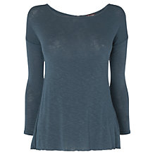 Buy Phase Eight Claire Button Back Top, Navy Online at johnlewis.com