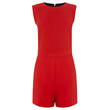 Buy Oasis Lana Crepe Playsuit, Pale Red Online at johnlewis.com