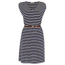 Buy Oasis Striped V-Neck Dress, Blue Multi Online at johnlewis.com