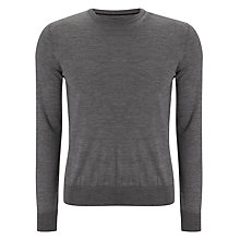 Buy Tommy Hilfiger Clyde Crew Neck Wool Jumper, Grey Online at johnlewis.com