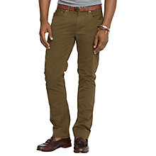 Buy Polo Ralph Lauren Varick Twill Chinos, Olive Green Online at johnlewis.com