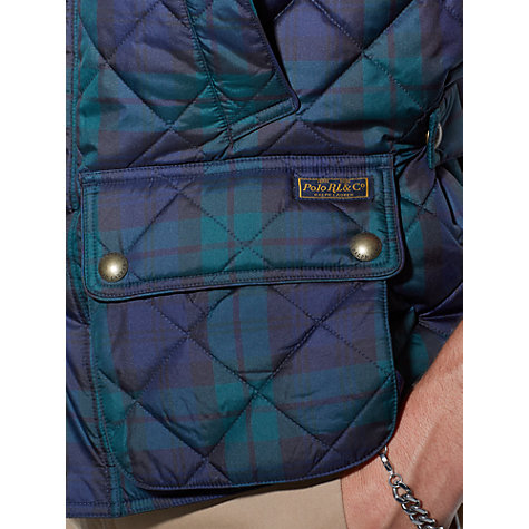 Buy Polo Ralph Lauren Check Quilted Gilet Online at johnlewis.com